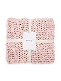 Saks Fifth Avenue Oversized Knit Throw Blanket PIN