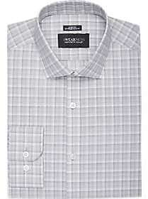 Awearness Kenneth Cole Gray Plaid Extreme Slim Fit