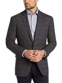Awearness Kenneth Cole Gray Plaid Slim Fit Sport C