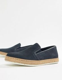 Dune Slip On Sneakers With Espadrille Detail