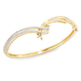 Womens Diamond Classics™ Silver & Gold Plated 1/10
