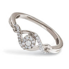 Womens Eternal Promise™ Sterling Silver 1/6ctw. Ro