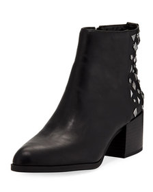 CIRCUS BY SAM EDELMAN Jamie Studded-Back Faux-Leat