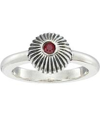King Baby Studio Ribbed Sphere Ring w/ Ruby