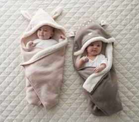 Hooded Forest Friends Baby Blankets