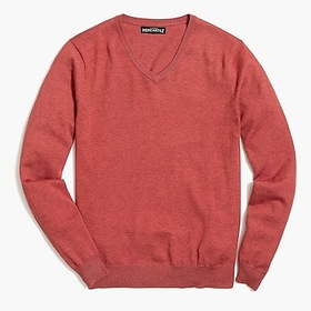 Slim-fit V-neck sweater in perfect merino wool ble