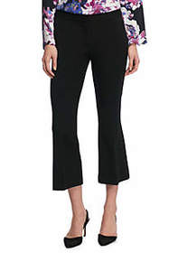 Signature Crop Flare Pant in Two Way Spandex Twill