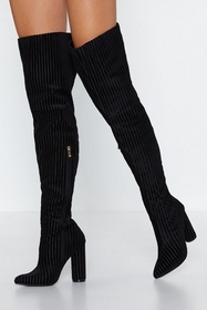 Ready For the Rib Down Thigh-High Boot