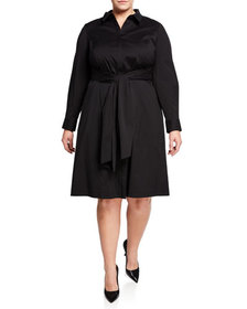 Lafayette 148 New York Brielle Long-Sleeve Belted