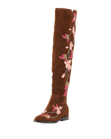 Ash Jess Over-The-Knee Embroidered Boot