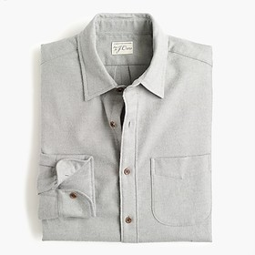 Tall brushed midweight flannel shirt