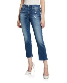 Jen7 by 7 for All Mankind Straight Crop Jeans