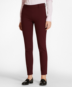 Stretch-Cotton Twill Ankle Pants