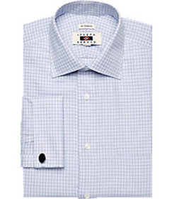 Joseph Abboud Traditional Fit Spread Collar Plaid