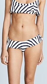 Milly Stripe Ruffle Cheeky Bottoms