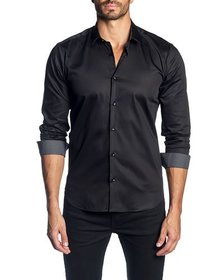 Jared Lang Men's Semi-Fitted Long-Sleeve Button-Do