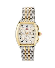 MICHELE 36mm Chronograph Oval Watch Two-Tone