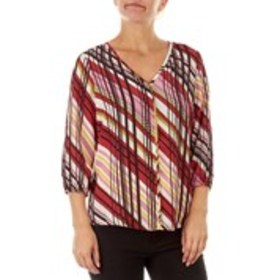ZAC & RACHEL Petite Patterned Top with Fitted Slee