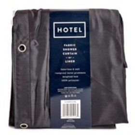 "Hotel-Weight Charcoal Shower Curtain Liner - 70"" x"