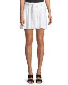 Laundry By Shelli Segal Pleated Linen Belted Short
