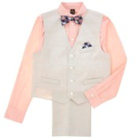 DOCKERS Boys Woven Vest with Plaid Shirt, Pants &