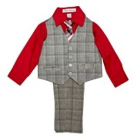 ENGLISH LAUNDRY Toddler Boys Plaid & Solid 4-Piece