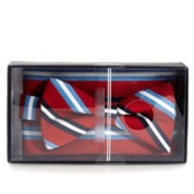 2-Piece Striped Bow Tie & Pocket Square Boxed Set