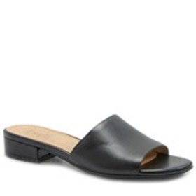 Womens Leather Comfort Slide Sandals