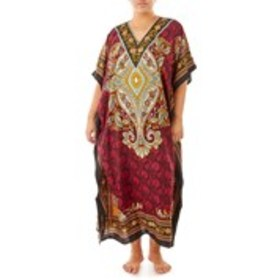 SANTE Print Caftan with Glitter Accents