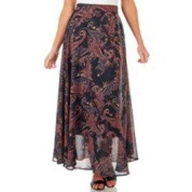Muted Floral Print Sweeping Maxi Skirt
