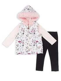 Betsey Johnson Baby Girl's Three-Piece Glam Faux F