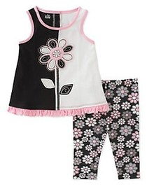 Kids Headquarters Baby Girl's Two-Piece Floral Tun