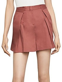 BCBGMAXAZRIA Wide-Leg Cotton Shorts SPICE