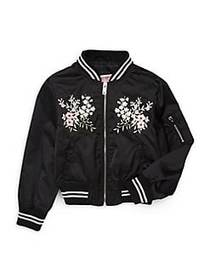 Urban Republic Girl's Floral Embroidered Jacket BL