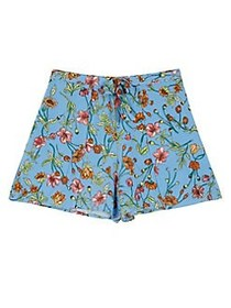 Ally B Girl's Floral Shorts BLUE