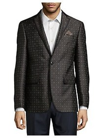 Tallia Orange Printed Sportcoat BROWN BLACK