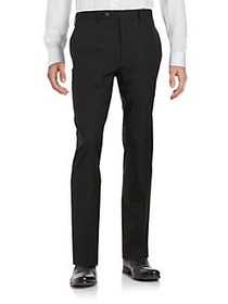 William Rast Striped Flat Front Pants BLACK