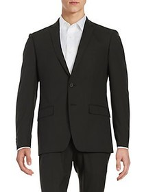 William Rast Button Front Blazer BLACK