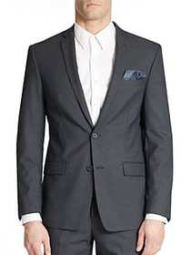 William Rast Button Front Blazer NAVY