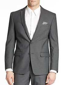 William Rast Button Front Blazer GREY