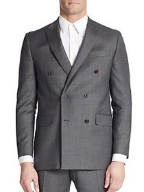 Tallia Orange Double-Breasted Suit Jacket GREY
