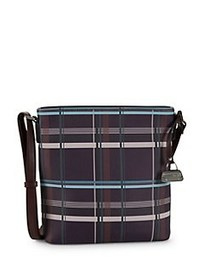 Mark Adam New York Plaid Leather Crossbody Bag BOR