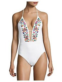 La Blanca One-Piece Eden Halter Swimsuit MULTI