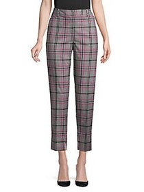 Ellen Tracy Glen Plaid Ankle Pants GREY