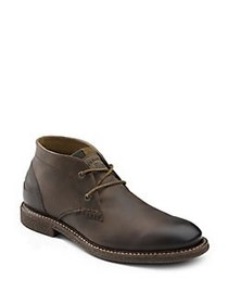 G.H. Bass Leather Round Toe Chukka Boots BROWN