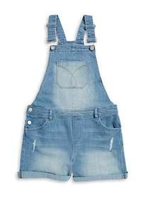 Calvin Klein Jeans Girls Distressed Overalls SKY