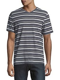 Black Brown 1826 Campus Jersey Stripe Tee ALFRESCO