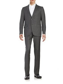 Black Brown 1826 Henry Fit Two-Piece Wool Suit GRE