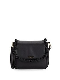 Karl Lagerfeld Paris Ollie Leather Crossbody BLACK