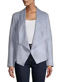 JONES NEW YORK Open-Front Blazer Jacket CRYSTAL BL